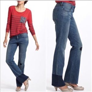Holding horses Claire patchwork bootcut jeans